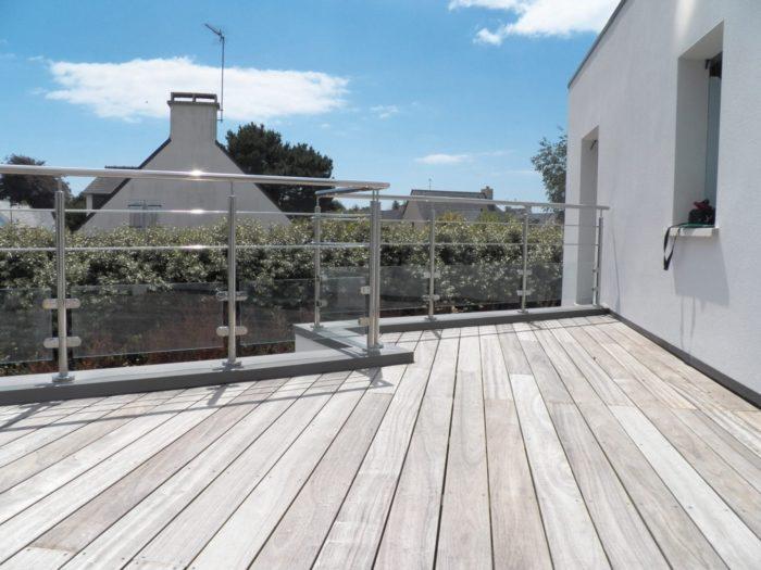 Padouk grise - Terrasses au sol