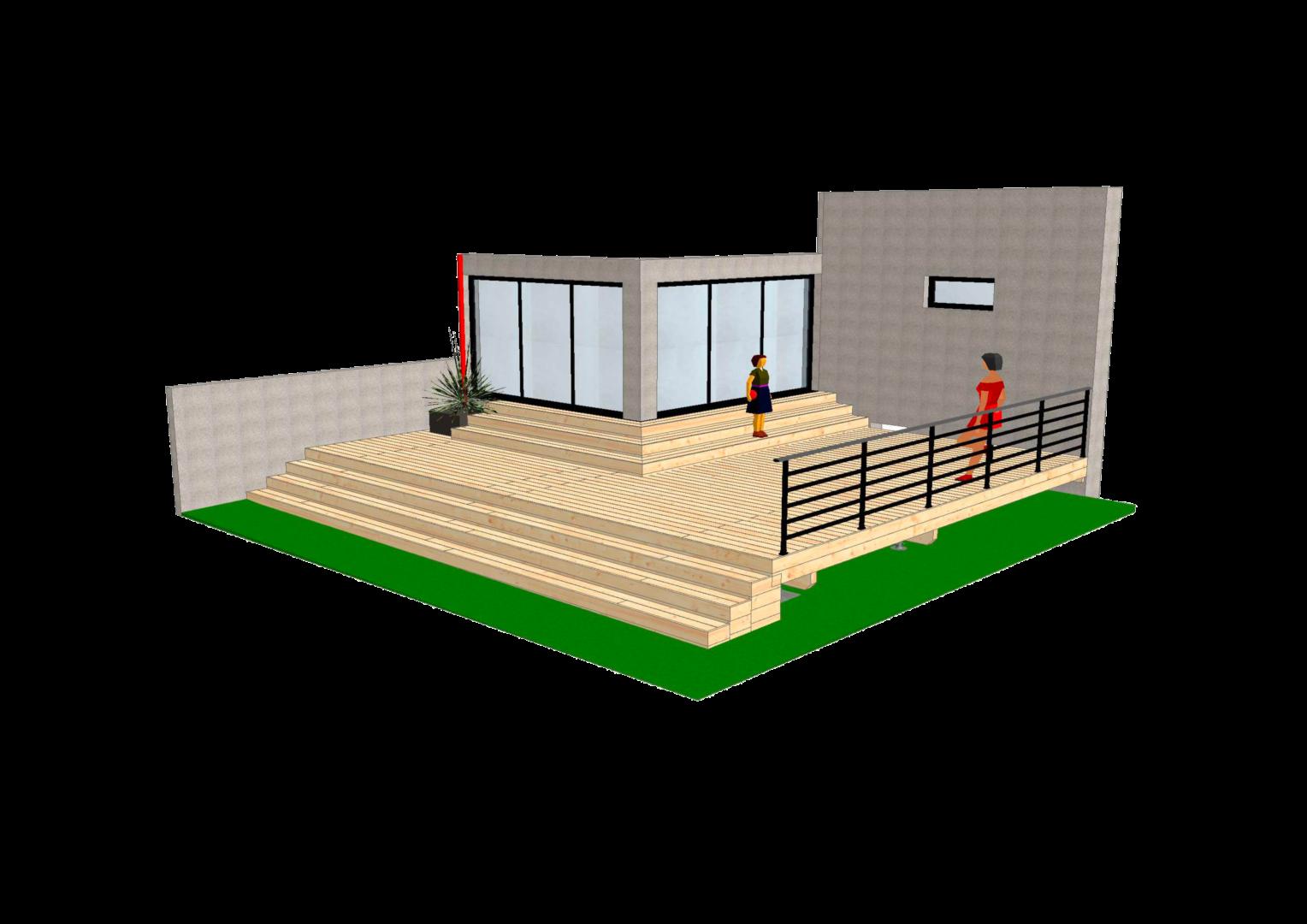 Terrasse en Pin detoure - Accueil