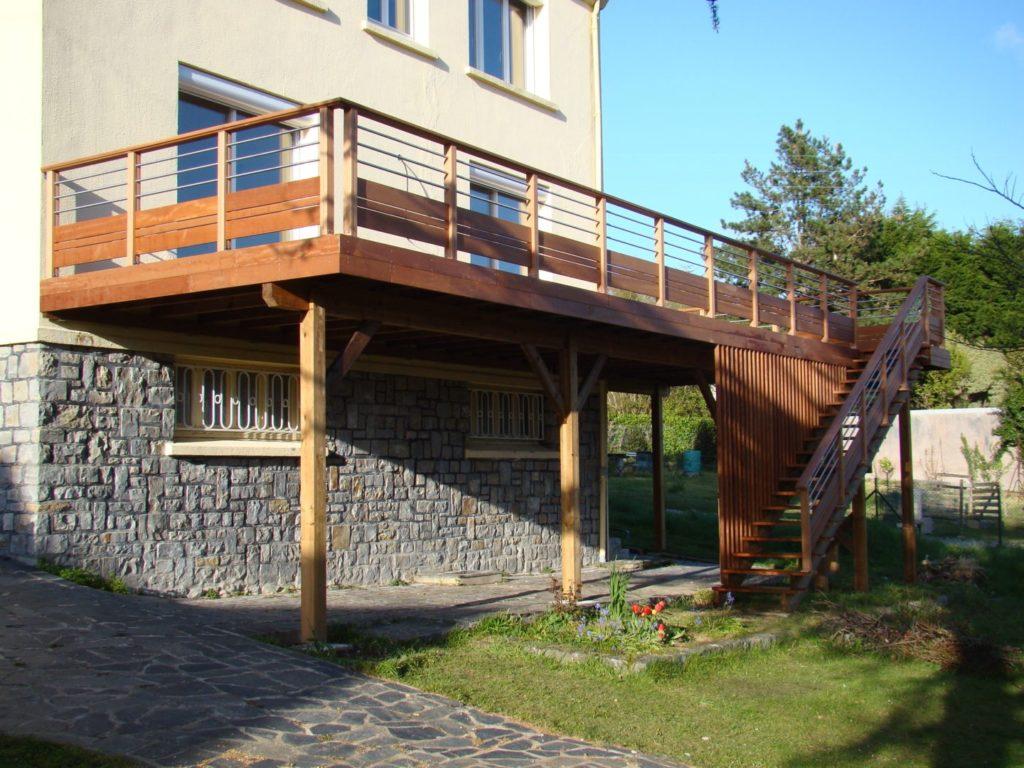 Terrasse sur poteaux 14 - Terrasses en hauteur