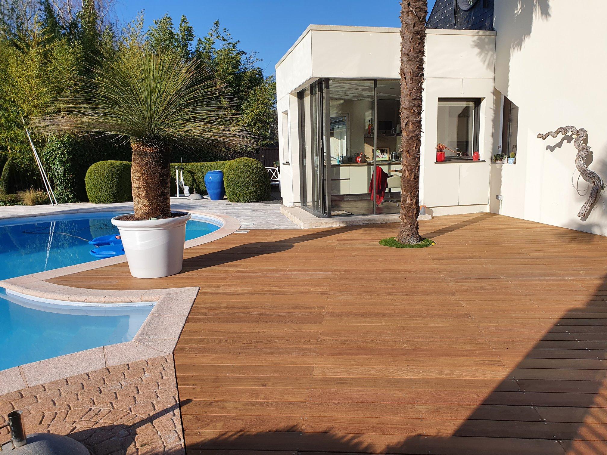 1626336338 985 Realisation dune terrasse en Ipe posee sur plots - Réalisation d'une terrasse en Ipé posée sur plots ...